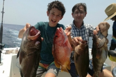 Family fishing charter Costa Rica