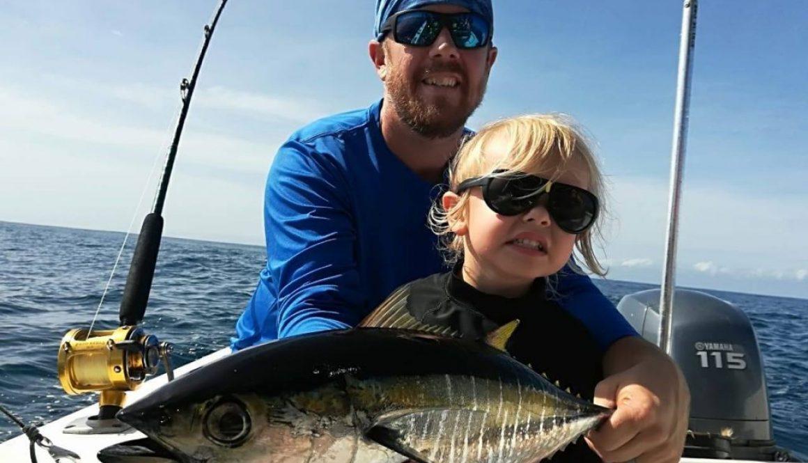 family fishing trip samara costa rica